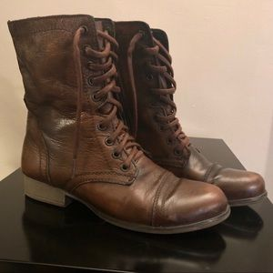 Steve Madden Genuine Leather Troopa Combat Boots